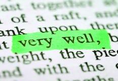 Highlighter e parole immagini stock