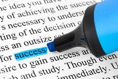 Highlighter e successo di parola immagine stock