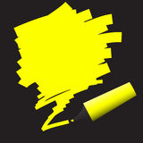 Highlighter felt pen with scribble Stock Image