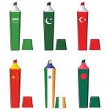 Highlighter. Flag Highlighter, country flag Highlighter Stock Photos