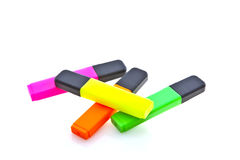 Highlighter marker pens Stock Photography