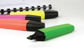 Highlighter markers Royalty Free Stock Images