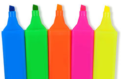 Highlighter markers Stock Photo