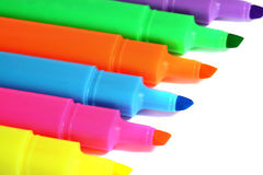 Highlighter markers C Royalty Free Stock Image