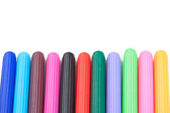 Highlighter Markers Pens Isolated on White Background Royalty Free Stock Photography