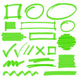 Highlighter Marking Design Elements Stock Photo