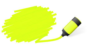 Highlighter with marking Royalty Free Stock Photos