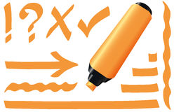 Highlighter Orange Marker Royalty Free Stock Image