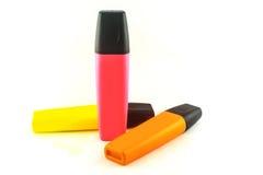 Highlighter pen. Highlighter pen on a white background Royalty Free Stock Photos