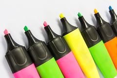 Highlighter pen Royalty Free Stock Images