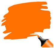 Highlighter pen with scribbles. On a blank piece of paper, your text can be added on colored area stock illustration