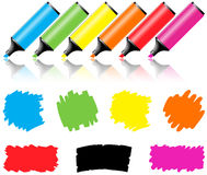 Highlighter Pen With Scribbles Stock Photo