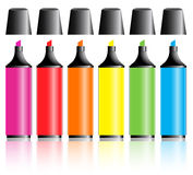Highlighter Pens Royalty Free Stock Image