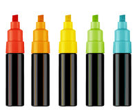 Free Highlighter Pens Stock Photography - 34235722