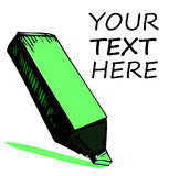 Highlighter with sample text Stock Photos