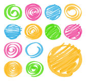 Highlighter Shaded and Spiral Design Elements royalty free illustration