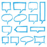 Highlighter Speech Bubbles Design Elements. Set of hand drawn highlighter speech bubbles, marks and pointers. Can be used for text highlighting, marking or Stock Photos