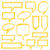 Highlighter Speech Bubbles Design Elements Royalty Free Stock Images