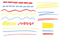 Highlighter vector lines Stock Images