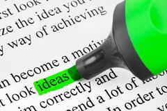 Highlighter and word Ideas Stock Photography