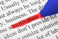 Highlighter and word motivation Royalty Free Stock Images