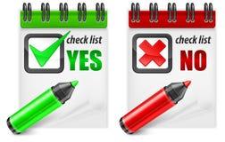 Highlighteren med kontrollen markerar YES/NO Arkivbild