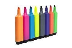 highlighterlinje pennor Arkivbild