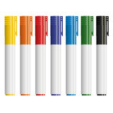 Highlighters closed - colorful Stock Image