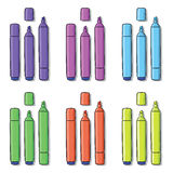 Highlighters of different colors Royalty Free Stock Image