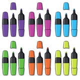 Highlighters of different colors Royalty Free Stock Photo