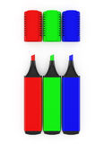 Highlighters do RGB Fotos de Stock