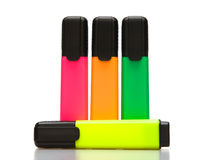 Highlighters luminosi   Fotografia Stock