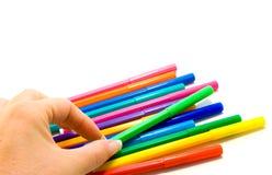 Highlighters multicolori Immagine Stock