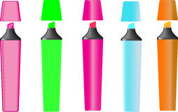 Highlighters Royalty Free Stock Photography