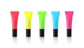 Highlighters on white Royalty Free Stock Image
