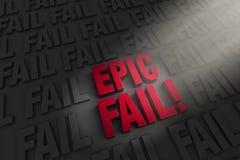 Highlighting An Epic Fail Stock Photos