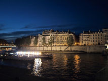 Highlighting houses. Highlighting by boat lamps houses Royalty Free Stock Photography