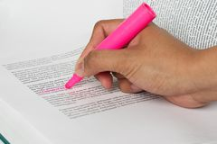 Highlighting Page Sharp Background stock photo