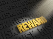 Highlighting Rewards Versus Risk Royalty Free Stock Photos