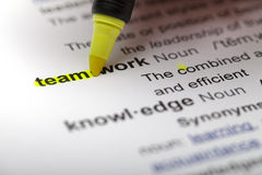 Highlighting team. Highlighting the Team part of Teamwork Royalty Free Stock Images