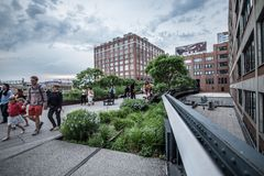 highline纽约 免版税图库摄影