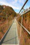 Highline 179最长的406米在世界的索桥在阿尔卑斯山 奥地利蒂罗尔 库存图片