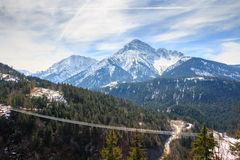 Highline 179步行者吊桥-奥地利 图库摄影