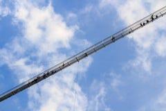 Highline 179步行者吊桥-奥地利 库存照片