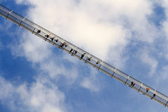 Highline 179步行者吊桥-奥地利 免版税库存照片