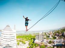 Highline au-dessus de la ville photographie stock