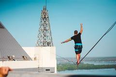 Highline au-dessus de la ville photos libres de droits