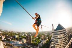 Highline au-dessus de la ville image libre de droits