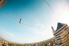 Highline au-dessus de la ville photos stock