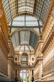 Highline Galleria. Detail of wall and roof of Vittorio Emmanuele Stock Images